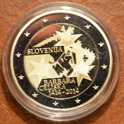 2 Euro Slovenia 2014 - 600th Anniversary of the coronation of Barbara Celjska  (Proof)
