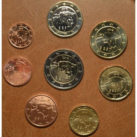 Set of 8 eurocoins Estonia 2018 (UNC)