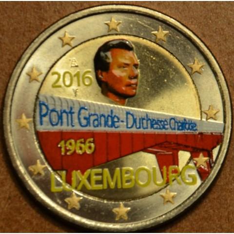 2 Euro Luxembourg 2016 - 50 Years of Grand Duchess Charlotte Bridge III. (colored UNC)