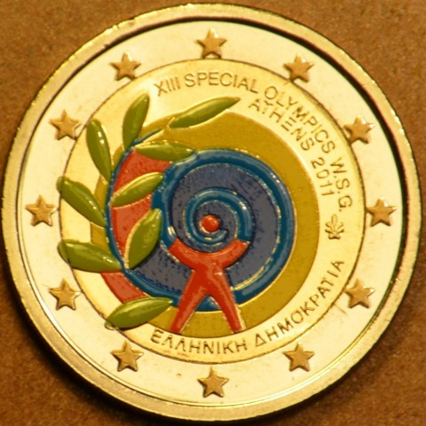 2 Euro Greece 2011 - The Special Olympics World Summer Games - Athens II. (colored UNC)