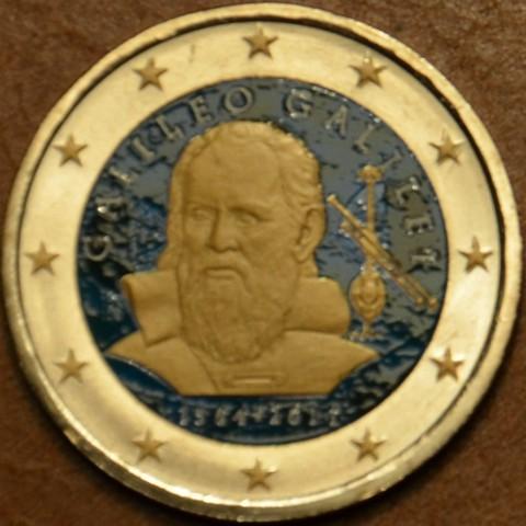 2 Euro Italy 2014 - 450th anniversary of Galileo Galilei II. (colored UNC)