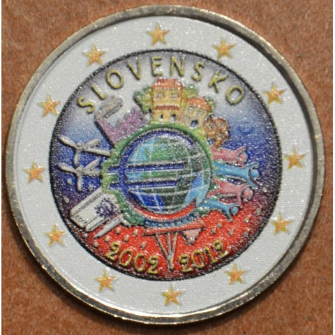 2 Euro Slovakia 2012 - Ten years of Euro IV.  (colored UNC)