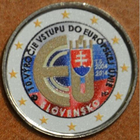2 Euro Slovakia 2014 - 10 years in EU V.  (colored UNC)