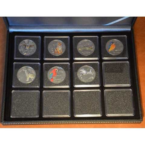 Lindner NERA XM black coin box for 12 coins max. Ø 52 mm