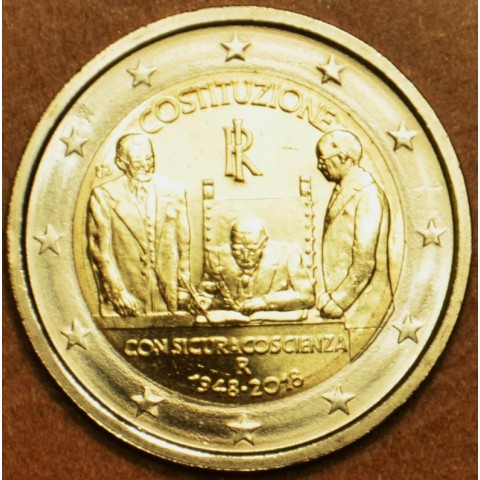 2 Euro Italy 2018 - 70th Constitution of Italy (UNC)