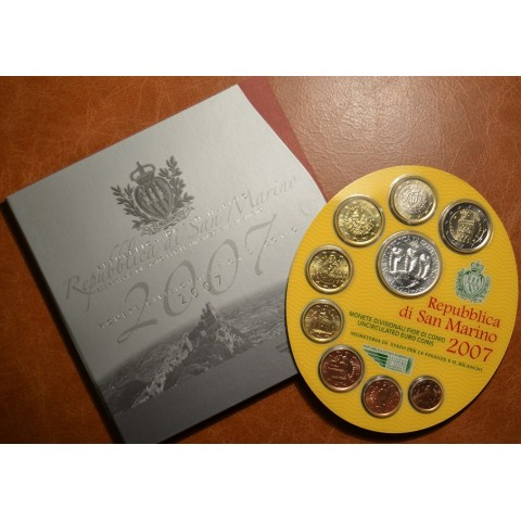 Official 9 coins set of San Marino 2007 (BU)