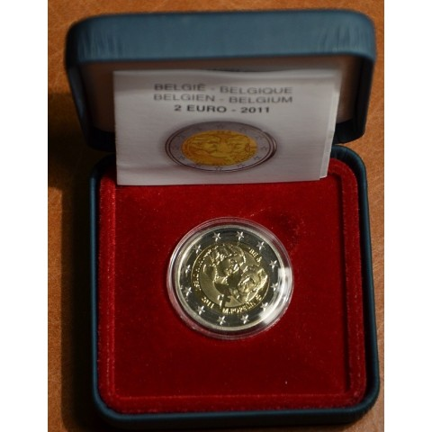 2 Euro Belgium 2011 - 100th anniversary of International Women's Day (Proof)