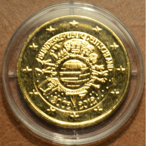"2 Euro Germany ""F"" 2012 - Ten years of Euro II. (gilded UNC)"
