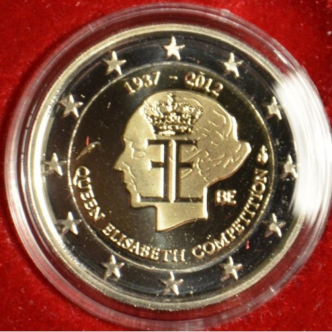 2 Euro Belgium 2012 - The 75th anniversary of the Queen Elisabeth Competition (Proof)