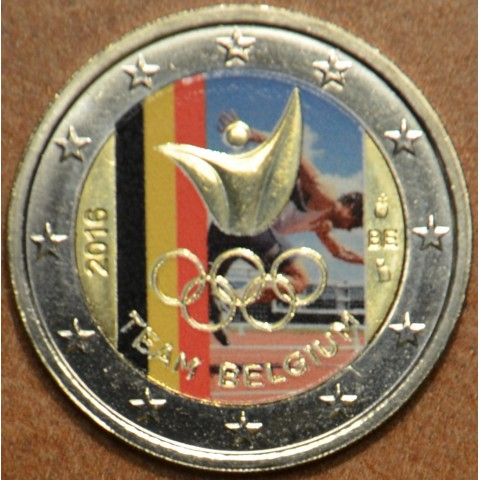2 Euro Belgium 2016 - Olympic team of Belgium IV. (colored UNC)