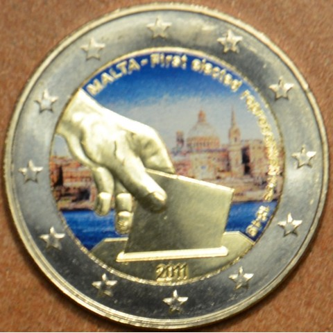 2 Euro Malta 2011 - Constitutional history – first election of representatives in 1849 III. (colored UNC)