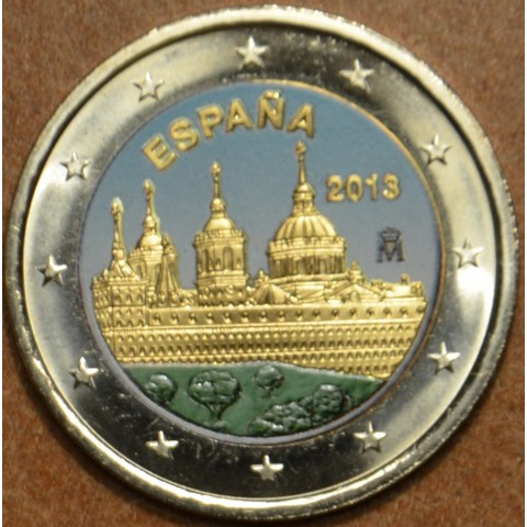 2 Euro Spain 2013 - The Royal Seat of San Lorenzo de El Escorial IV. (colored UNC)