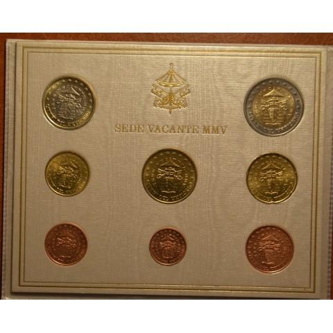 Set of 8 eurocoins Vatican 2005 Sede Vacante (BU)