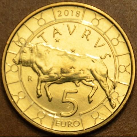 5 Euro San Marino 2018 Zodiac: Taurus (UNC)