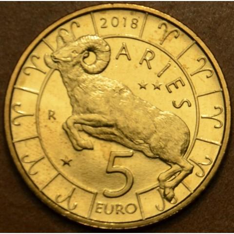 5 Euro San Marino 2018 Zodiac: Aries (UNC)
