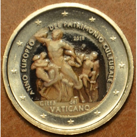 2 Euro Vatican 2018 - European Year of Cultural Heritage (colored UNC)