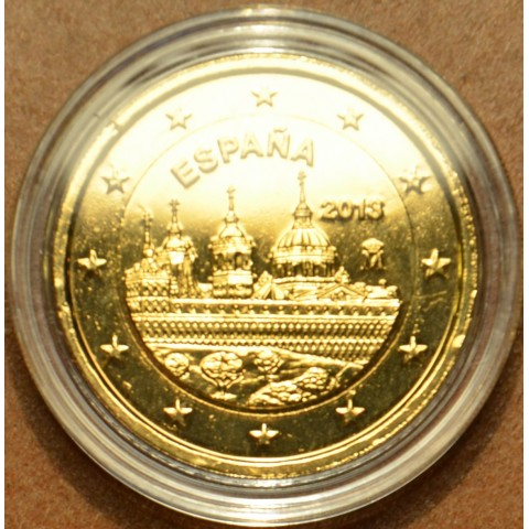 2 Euro Spain 2013 - The Royal Seat of San Lorenzo de El Escorial (gilded UNC)