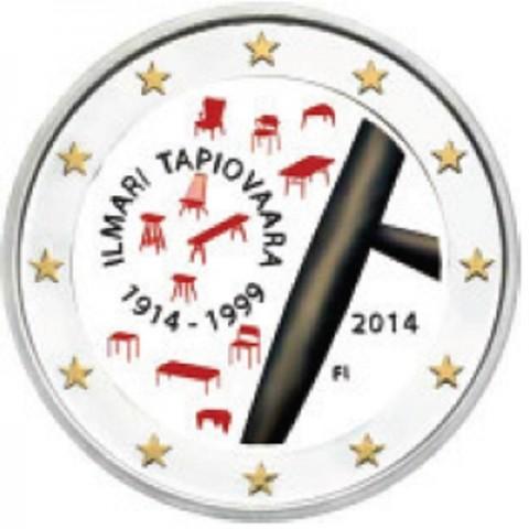2 Euro Finland 2014 - 100th Anniversary of Ilmari Tapiovaara (colored UNC)