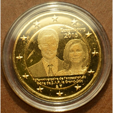 2 Euro Luxembourg 2015 - 15. anniversary of Henri's Accession to the Throne (gilded UNC)