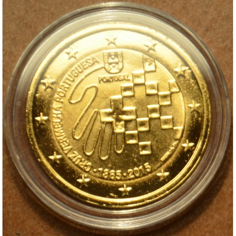 2 Euro Portugal 2015 - 150 years of Red Cross (gilded UNC)