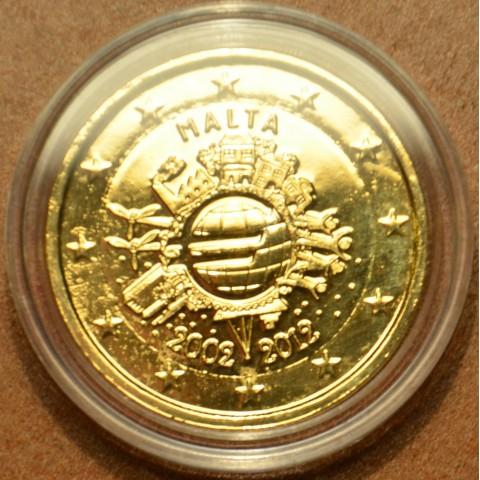 2 Euro Malta 2012 - Ten years of Euro (gilded UNC)