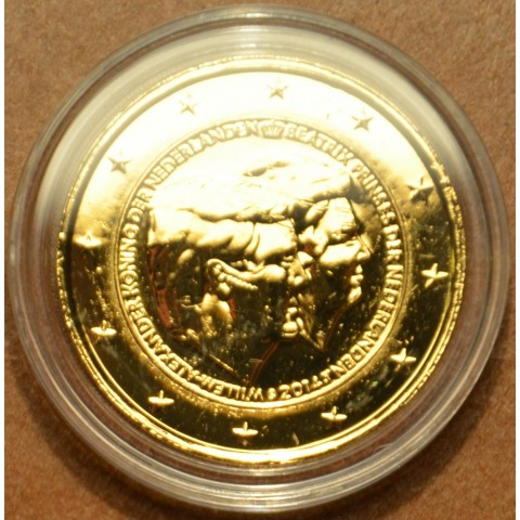 2 Euro Netherlands 2014 - Double portrait (gilded UNC)