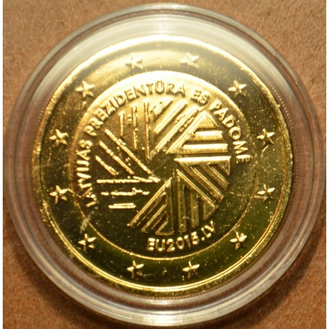 2 Euro Latvia 2015 - Latvian presidency of the EU (gilded UNC)