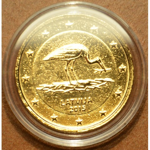 2 Euro Latvia 2014 - Black stork (gilded UNC)