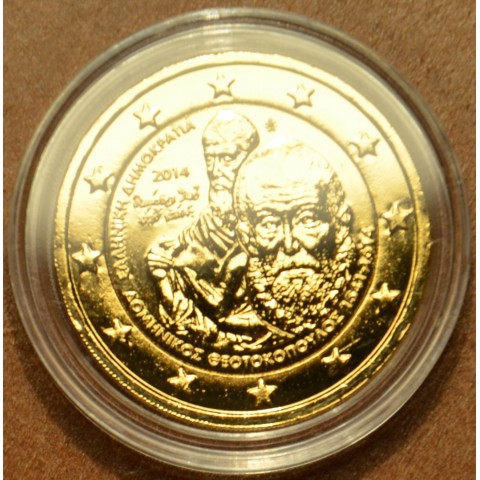 2 Euro Greece 2014 - 400 years since the Death of Domenikos Theotokopoulos (gilded UNC)