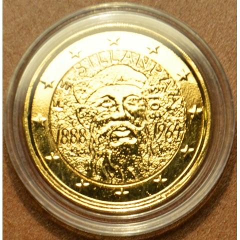 2 Euro Finland 2013 - 125th Anniversary of the birth of Nobel prize winning author F.E.Sillanpaa (gilded UNC)