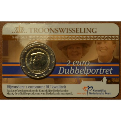 2 Euro Netherlands 2013 - Double portrait (BU card)