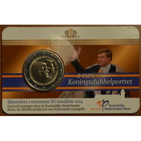 2 Euro Netherlands 2014 - Double portrait (BU card)