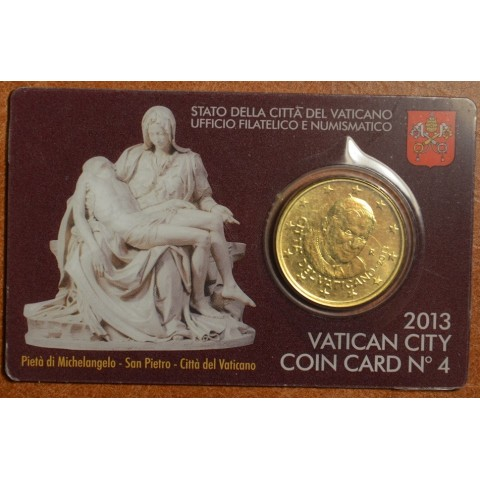 50 cent Vatican 2013 official coin card No. 4 (BU)