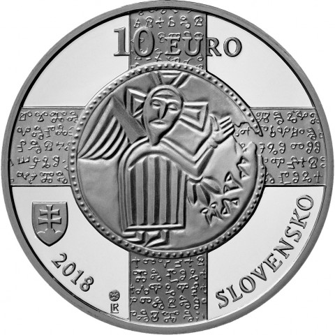 10 Euro Slovakia 2018 - 1150th anniversary of the recognition of the Slavonic liturgical language (BU)