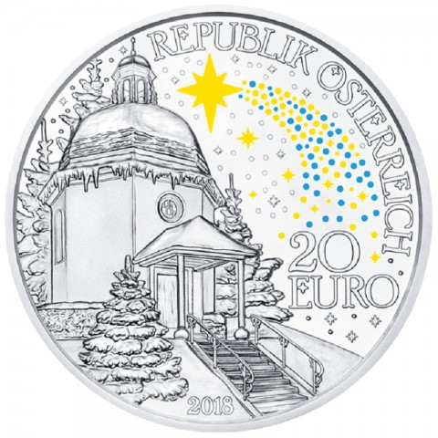 20 Euro Austria 2018 Silent night (Proof)