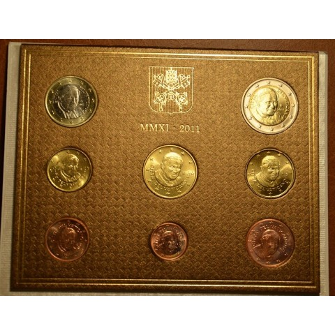 Set of 8 eurocoins Vatican 2011  (BU)