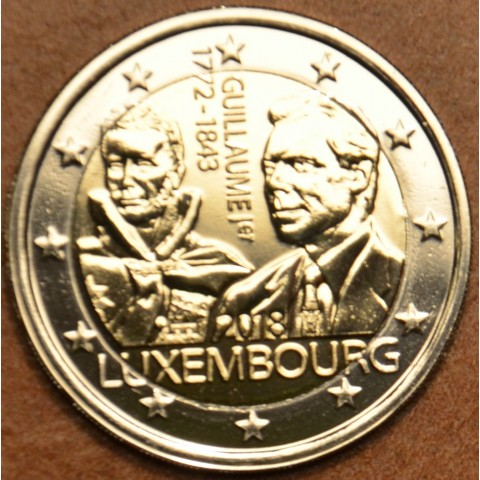 2 Euro Luxembourg 2018 - The 175th anniversary of the death of the Grand Duke Guillaume I. with dutch mintmark (UNC)