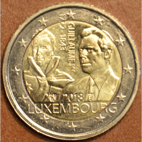 2 Euro Luxembourg 2018 - The 175th anniversary of the death of the Grand Duke Guillaume I. (UNC)
