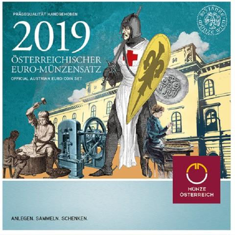 Set of 8 coins Austria 2019 (BU)