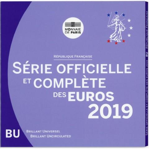 Set of 8 eurocoins France 2019 (BU)