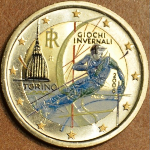 2 Euro Italy 2006 - Winter Olympics in Turin (colored UNC)