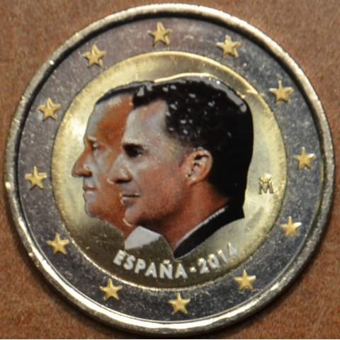2 Euro Spain 2014 - Felipe VI. - New king of Spain II.  (colored UNC)