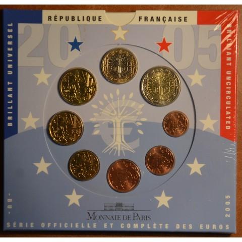 Set of 8 eurocoins France 2005 (BU)