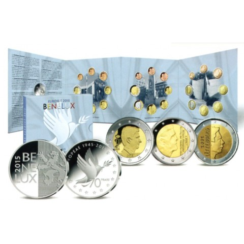 Official set of coins BeNeLux 2015  (BU)