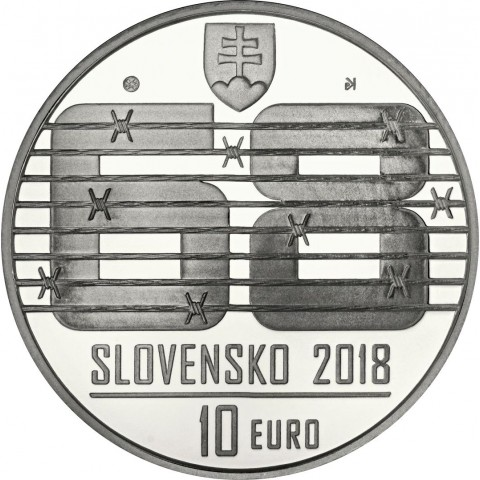 10 Euro Slovakia 2018 - August 1968 (Proof)