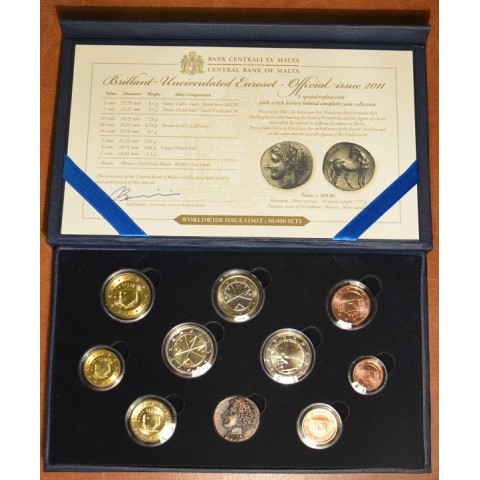 Set of 10 Euro coins - Malta 2012 (BU)