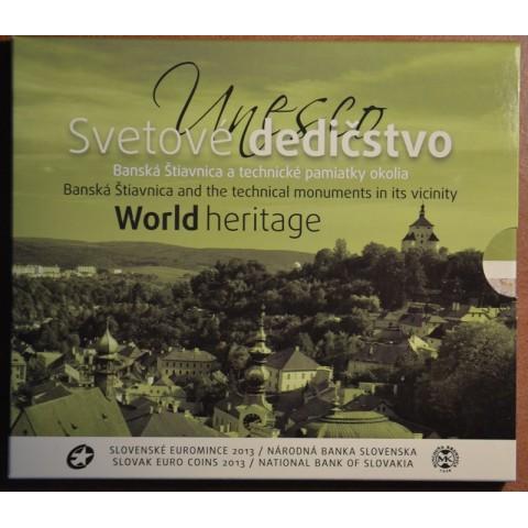Cover for set of 8 Slovak coins 2013 - Banská Štiavnica