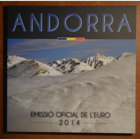 Cover for set of 8 Euro coins Andorra 2014