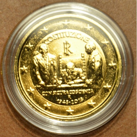 2 Euro Italy 2018 - 70th Constitution of Italy (gilded UNC)