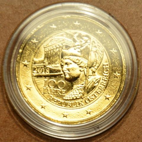 2 Euro Austria 2018 - Centenary of the Republic of Austria (gilded UNC)